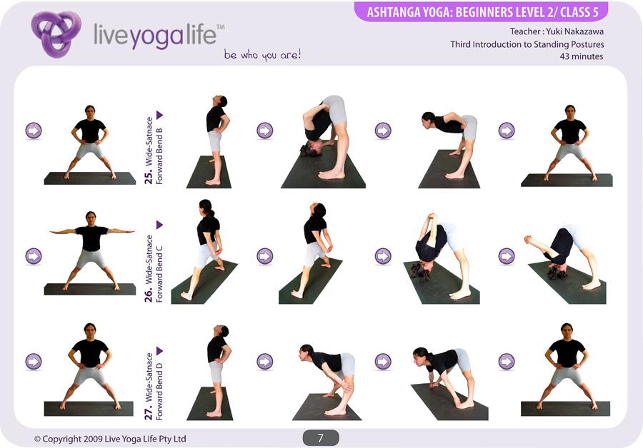 Ashtanga Yoga Beginners Complete Set Classes 1 To 7 Live Yoga Life