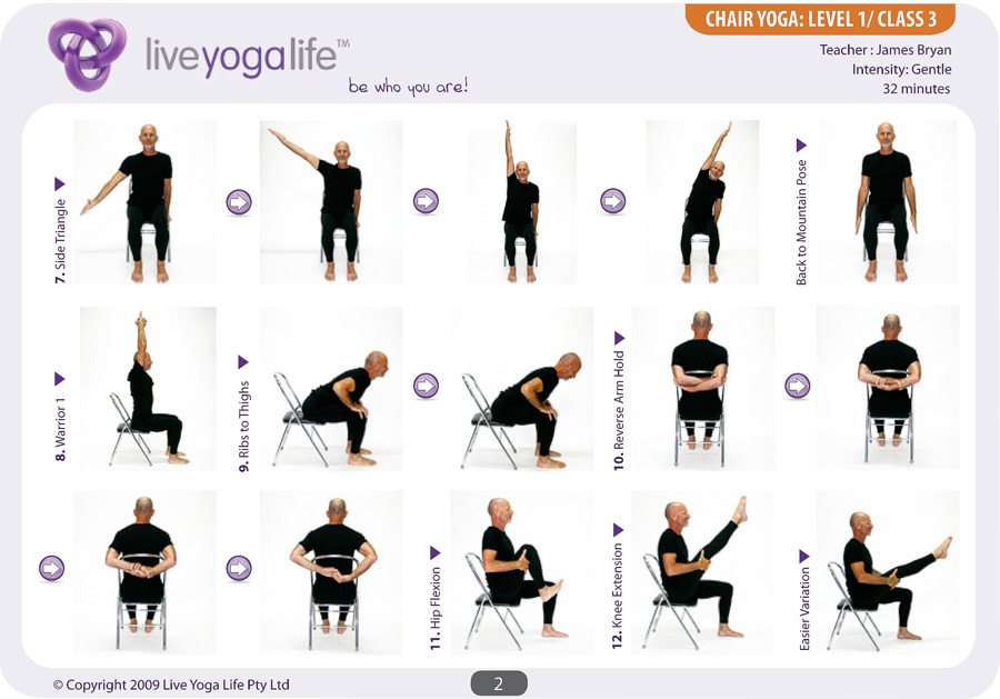 Yoga With A Chair Level 1 Class 3 Live Yoga Life