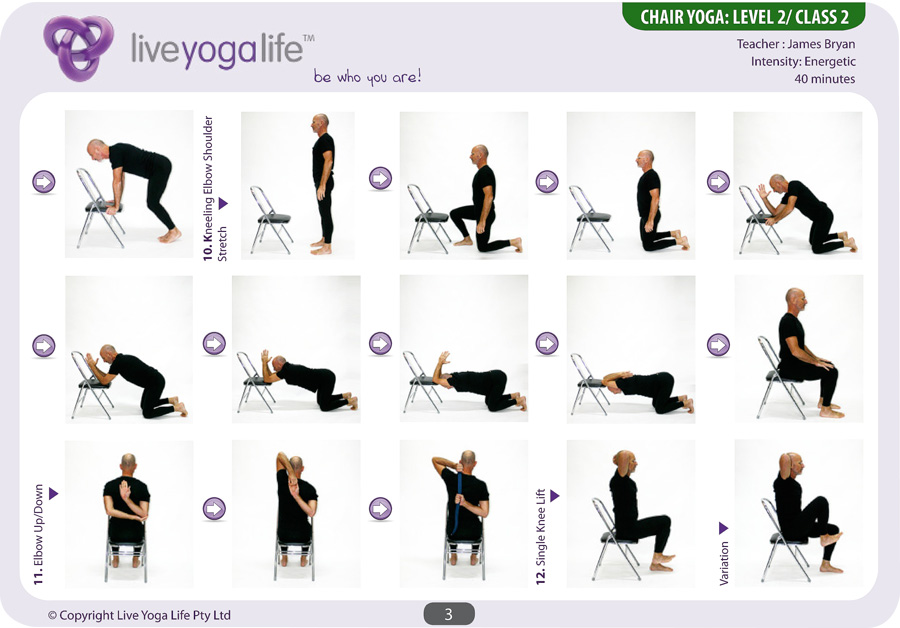 Chair Yoga Sequence Www Pixshark Com Images Galleries