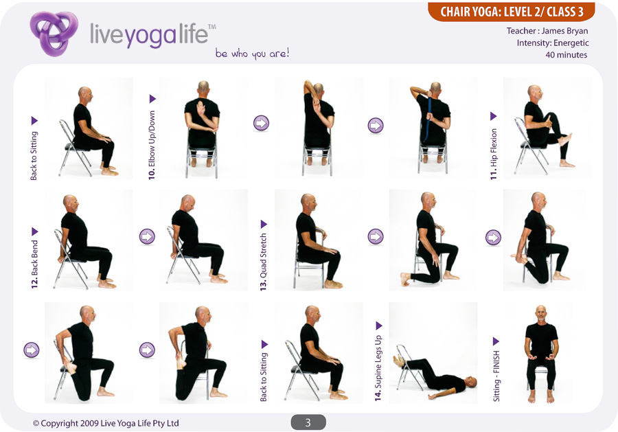 Yoga with a Chair Level 2 – Class 3