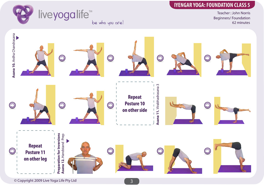 Chaise Yoga Iyengar Of Iyengar Yoga Foundation Complete Set Classes 1 To 7