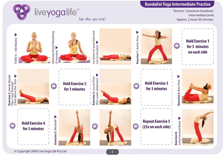 Kundalini Yoga Intermediate Class 1 | Live Yoga Life
