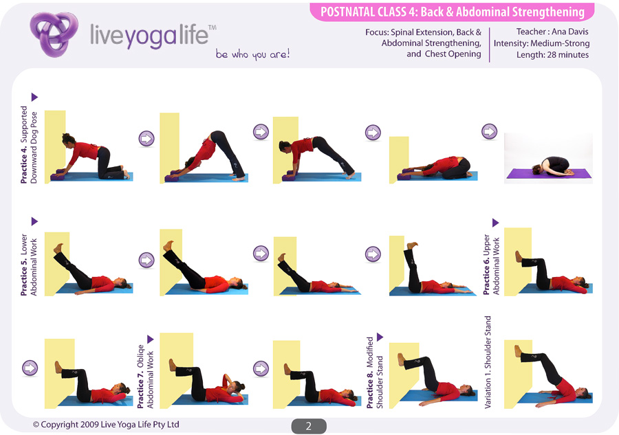 Postnatal Yoga Program Class 4 Live Yoga Life