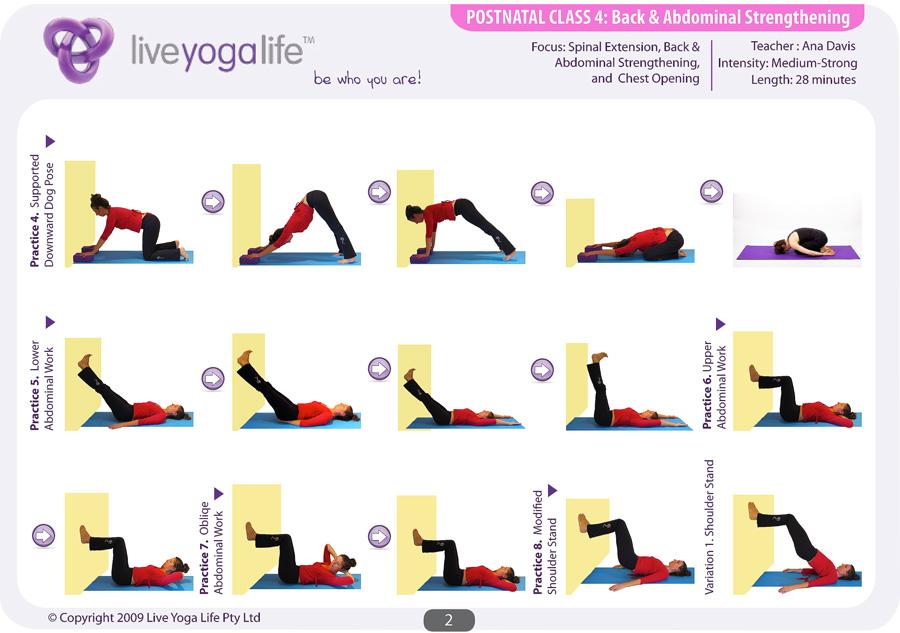 Postnatal Yoga Complete Set Classes 1 To 8 Live Yoga Life