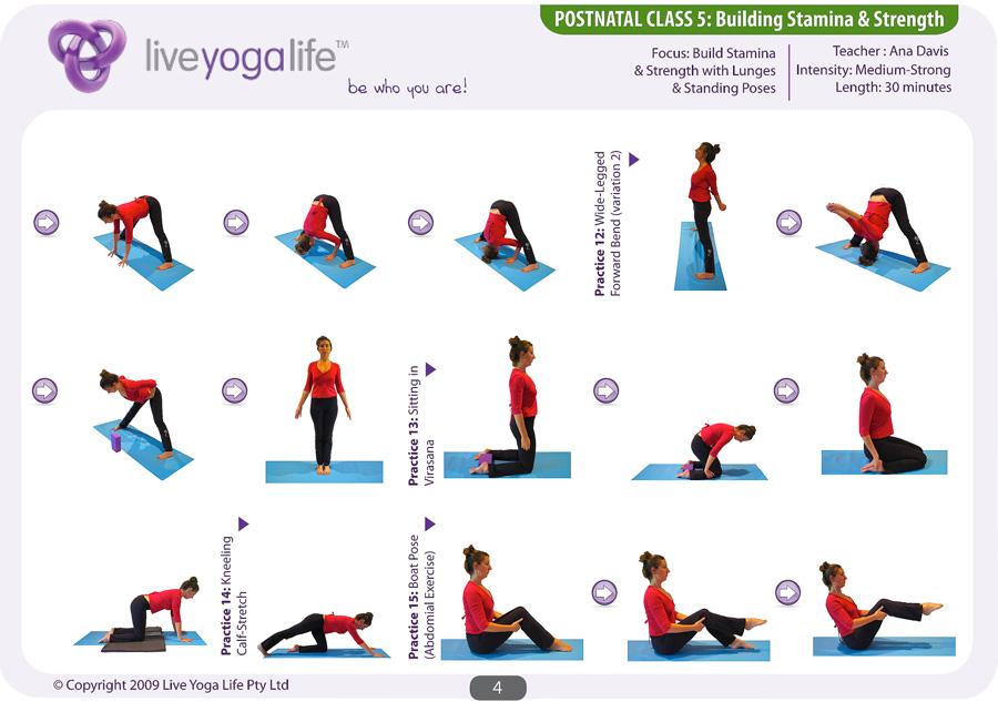 Postnatal Yoga Program Class 5 Live Yoga Life