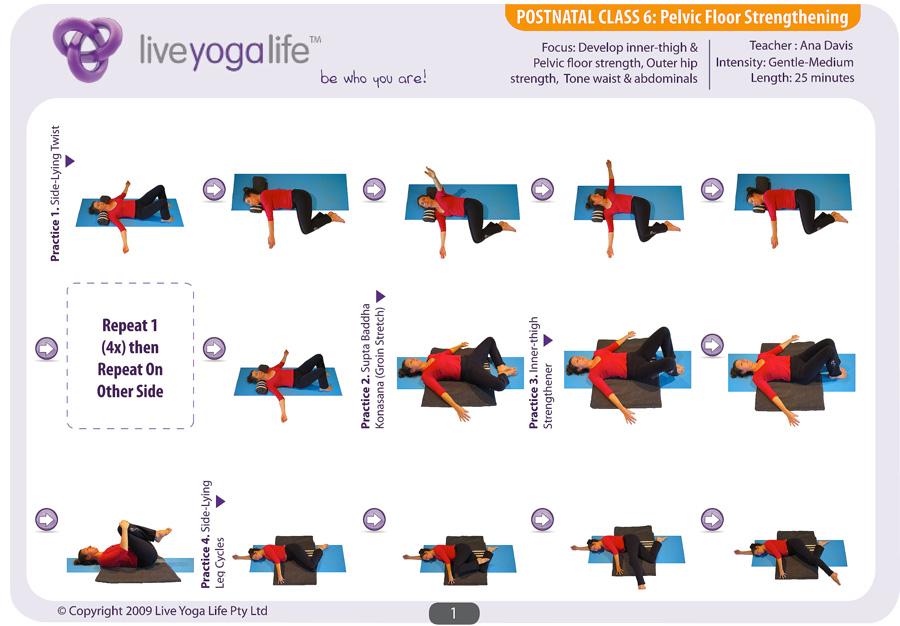 Postnatal Yoga Program Class 6 Live Yoga Life
