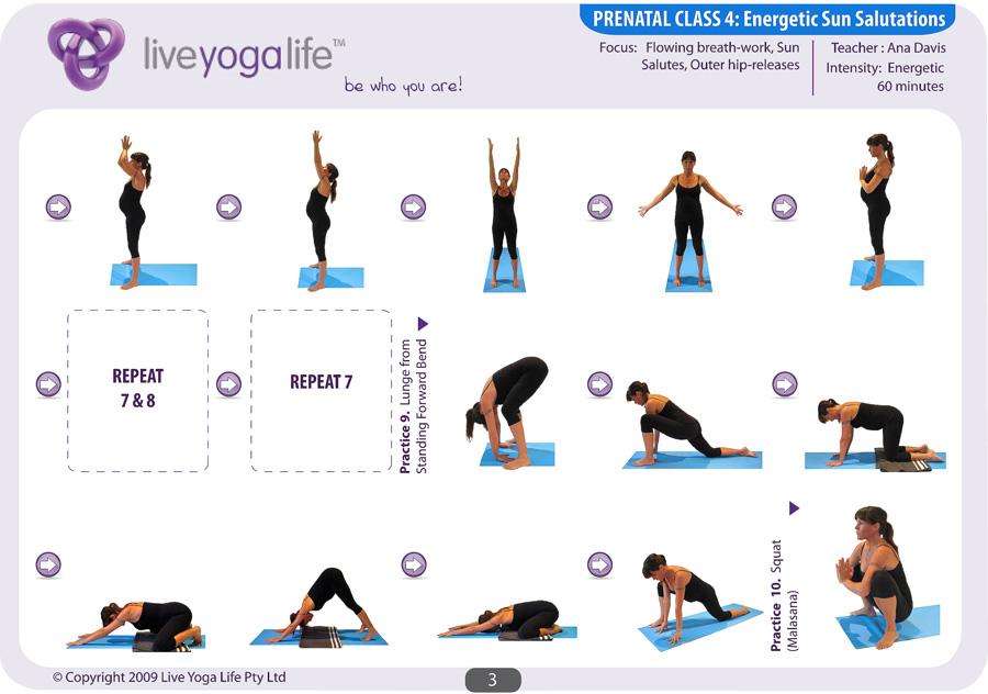Prenatal Yoga Program Class 4 | Live Yoga Life