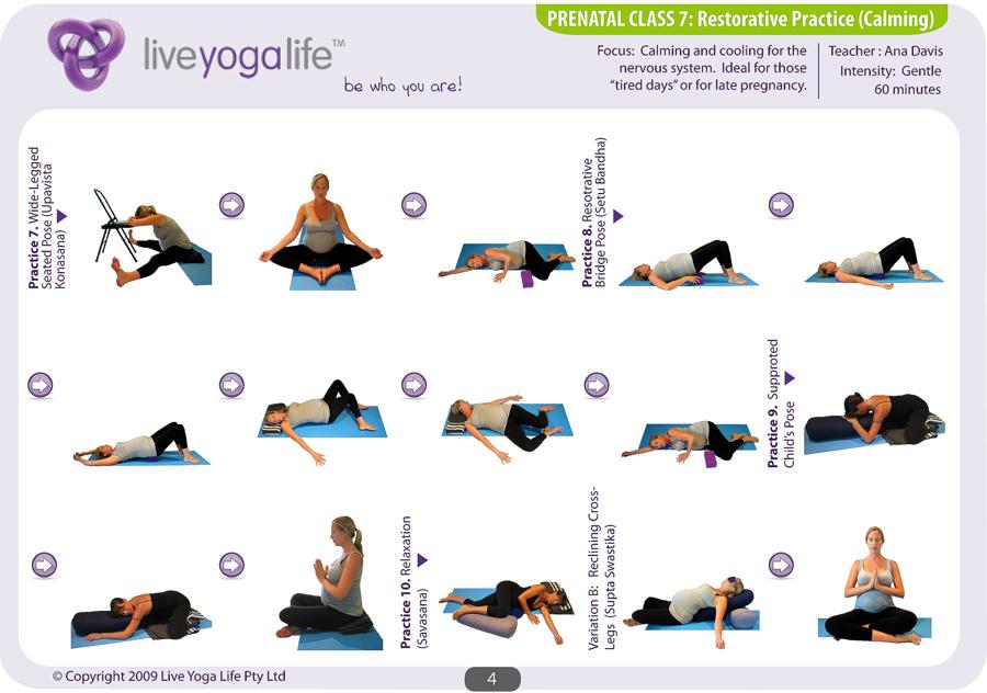 Prenatal Yoga Program Class 7 Live Yoga Life