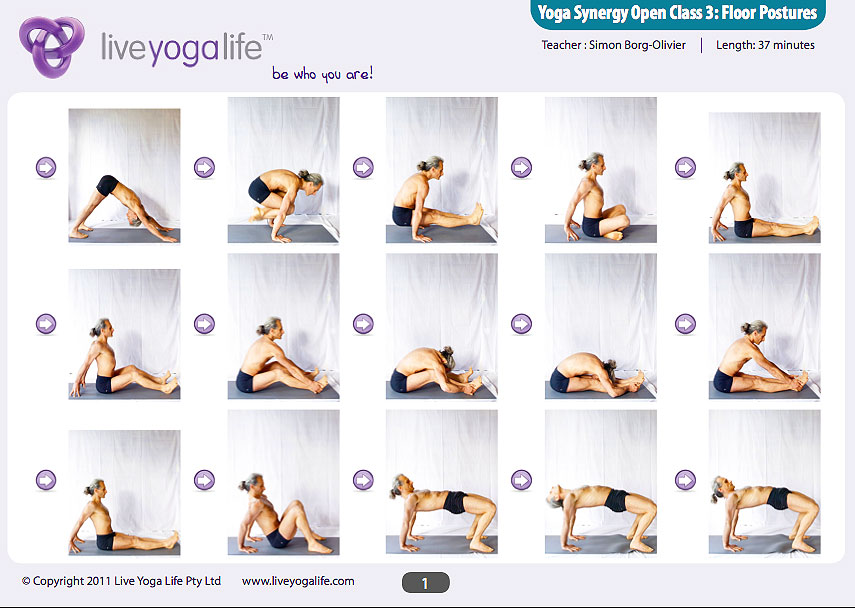 Yoga synergy open class 3 floor postures live yoga life for Floor yoga stretches