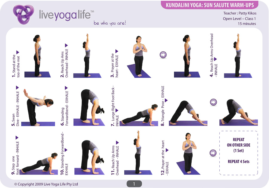 Sun Salutations Warm-ups Complete Set (Classes 1 to 4)