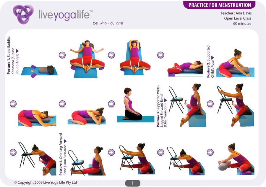 Yoga For Menstruation Class 1 Live Yoga Life