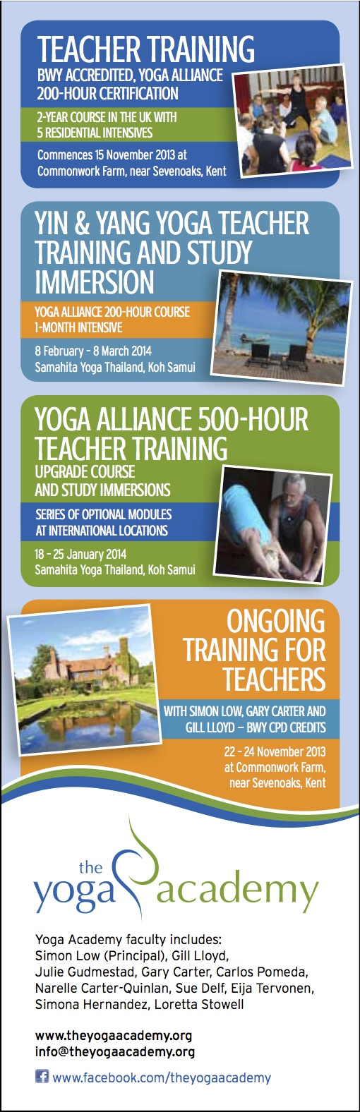 Yoga Teacher Training 2013-14 with Yoga Teacher Simon Low