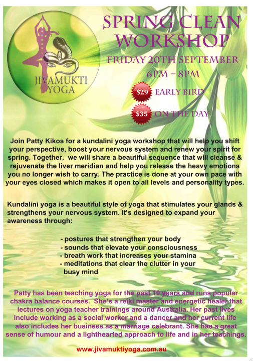 Kundalini Yoga Spring Clean Workshop with Patty Kikos