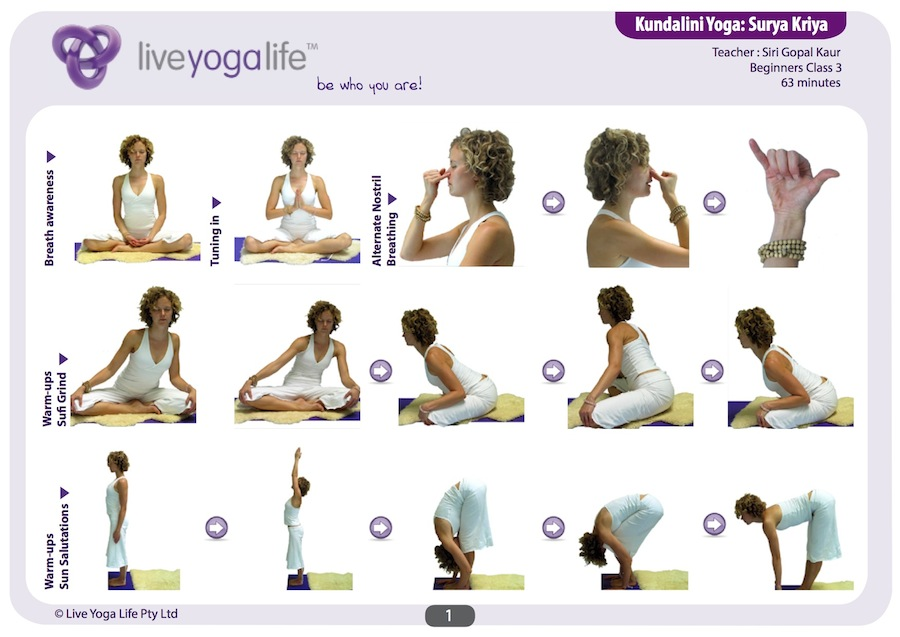 Kundalini yoga beginners complete set live yoga life for Chaise yoga iyengar