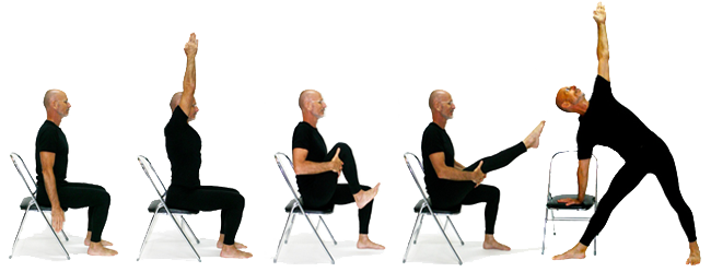 Chair yoga with yoga teacher James Bryan from Knoff Yoga