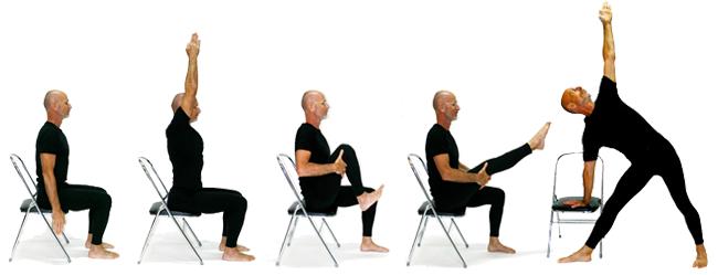 Chair yoga with yoga teacher James Bryan from Knoff Yoga